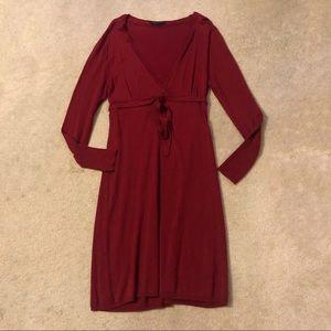 BCBGMAXAZRIA Red Long Sleeve Dress